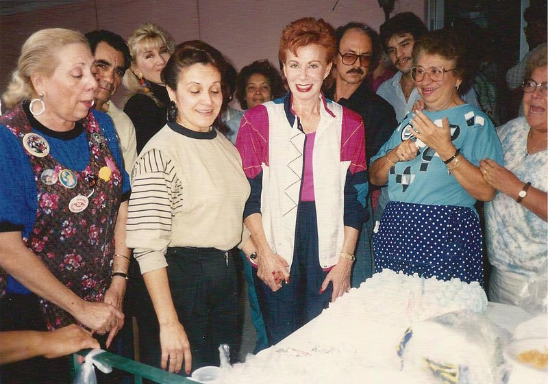 A lunchroom birthday celebration at Dorissa of Miami. (Doree's in the vest)