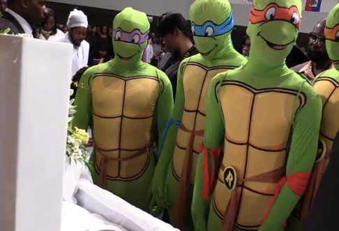 King Carter had a Teenage Mutant Ninja Turtle themed funeral. He was 6 when he was shot and killed earlier this year. Kid-themed funerals are one way families try to cope with the sudden loss of innocence.