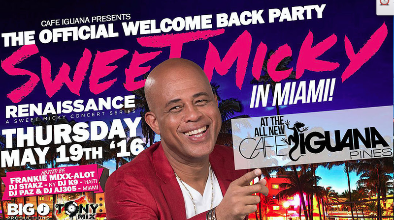 Former Haiti President Michel 'Sweet Micky' Martelly to perform in Pembroke Pines.