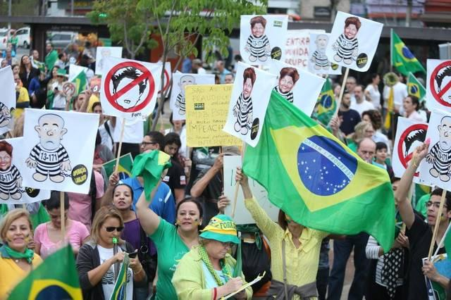 Brazilians in Sao Paulo protest their country's epic corruption.