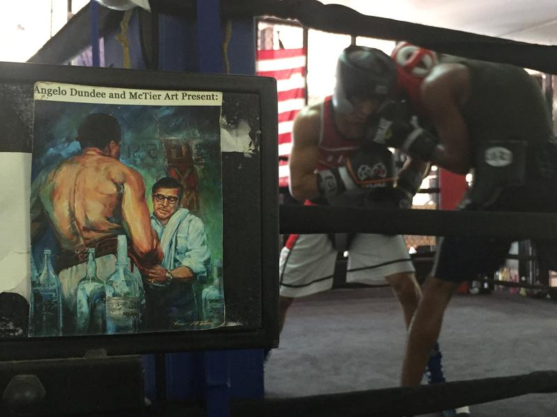 Sparing sessions can be intense. And the memories of the original owner Angelo Dundee is always nearby.