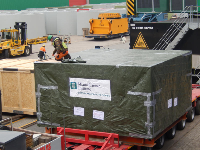 The Cyclotron weighs at about 220 tons and will be part of Baptist Hospital's Miami Cancer Institute