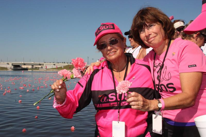 Nelly Casteblanco and Estelle McCalmont at the IBCPC Dragon Boat Festival in Sarasota Festival