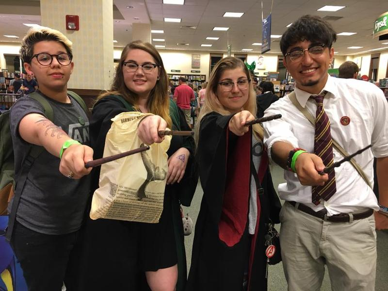 Wand up! South Florida Muggles and aspiring wizards gathered for the countdown to the new installment in the Harry Potter saga.