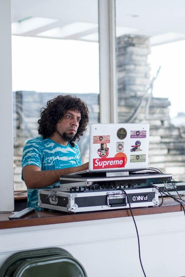 DJ Joyvan Guevara spinst at the recent VR Festival in Havana