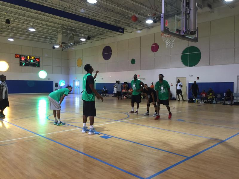 The Midnight Basketball Finals went on inside of the Betty T. Ferguson Recreation Center on Monday during the July 4th celebrations.