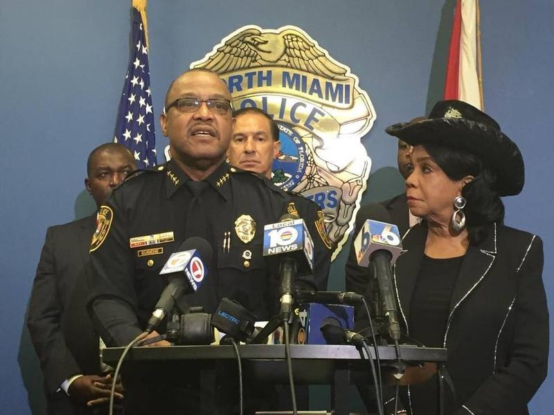 North Miami Police Chief Gary Eugene speaks at a press conference regarding Charles Kinsey, an unarmed caretaker shot by police while on the ground with his hands up.