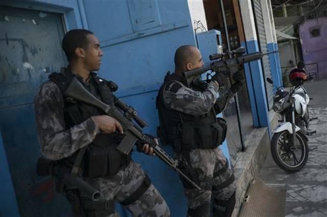 Brazilian Police During An Operation In A Rio De Janeiro Slum Last Month