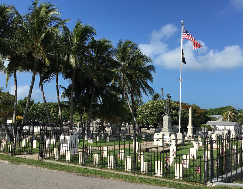 The Key West Cemetery's most historically significant plot served as burial place for sailors who were killed when the USS Maine exploded in Havana Harbor in 1898.