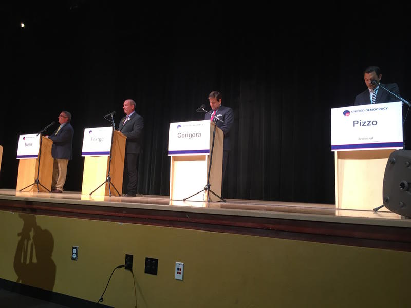 Four of the seven candidates for Florida Senate District 38 showed up for the debate held at Miami Beach Senior High School.