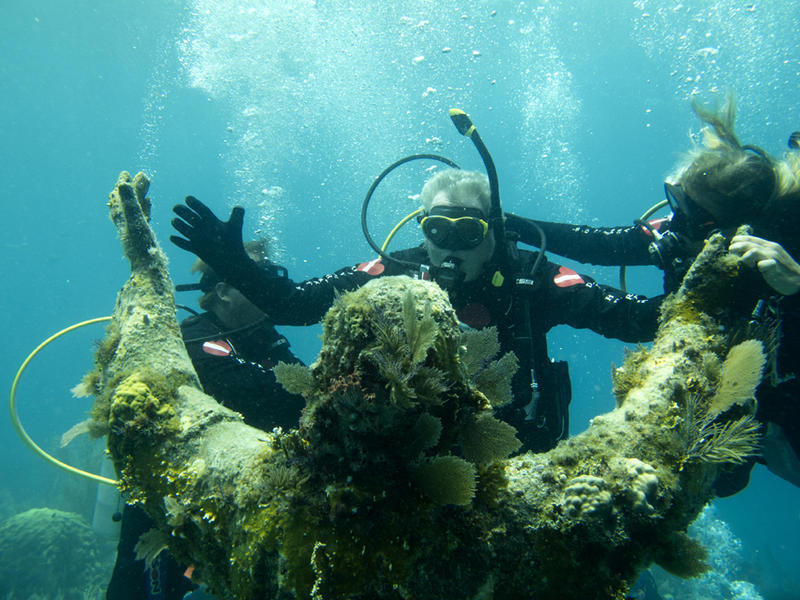 Gabriel Spataro revisits Christ of the Deep off Key Largo. He helped place the statue there in 1965.
