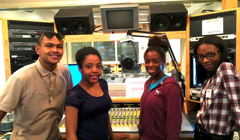 These four teenagers spent their summer with WLRN News. They each reported personal stories focused on a place: a park, a torn-down apartment building, school, etc.