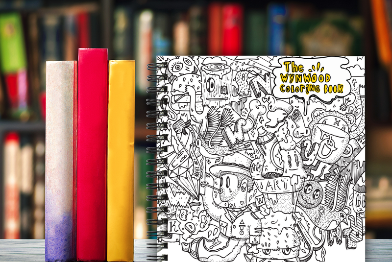 The Wynwood Coloring Book gets you to put your own twist on some of the street art of Wynwood.