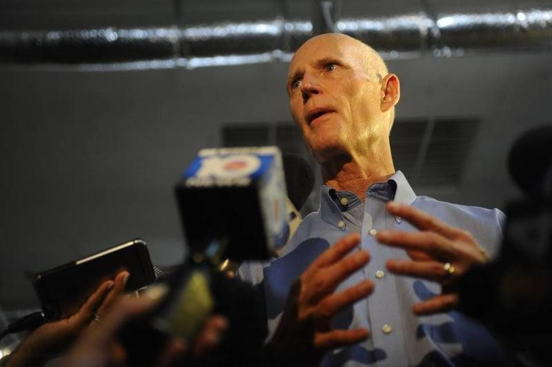 Florida Governor Rick Scott visits Wynwood last week to address the Zika outbreak there.