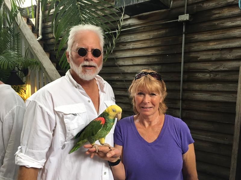 Thane and Tami Gilliam came to the casting call for extras in 'The Leisure Seeker.' Their double yellow-headed Amazon parrot, Mango, was with them when they heard about the casting call.