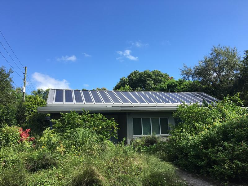 David Rifkind's roof is lined with solar panels that produce more than half the energy his family uses.