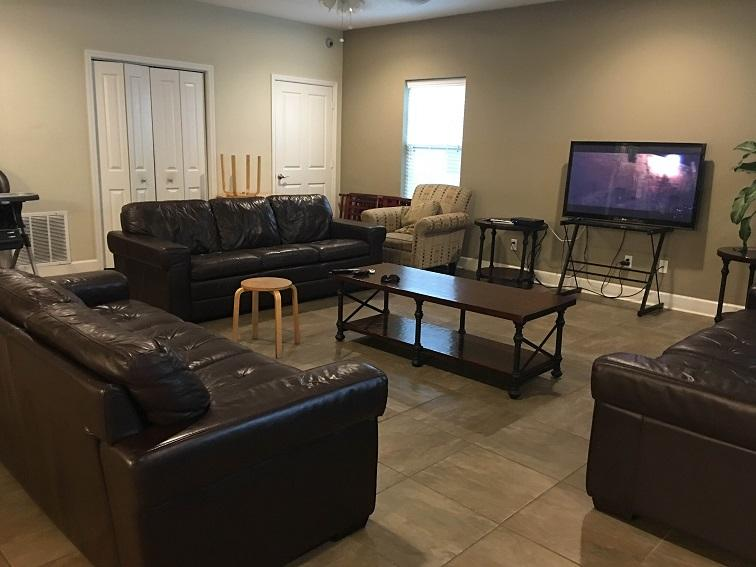 This is the shared living area of the Bethany House. Residents pay a small program fee and receive supportive services.