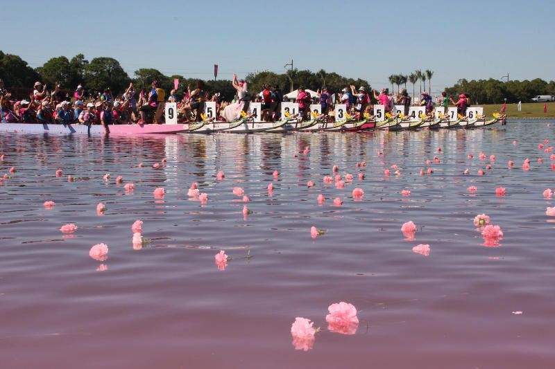 Flower Ceremony during Dragon Boat Race