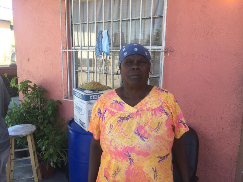 Ilorieuse Rodney, at home in Homestead, says she lost both of the houses she owned in the port of Pestel, Haiti to Hurricane Matthew.