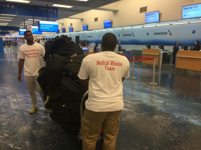 Members of the Haitian American Hurricane Matthew Relief Effort arrived at the Fort Lauderdale Airport shortly after 3 AM.