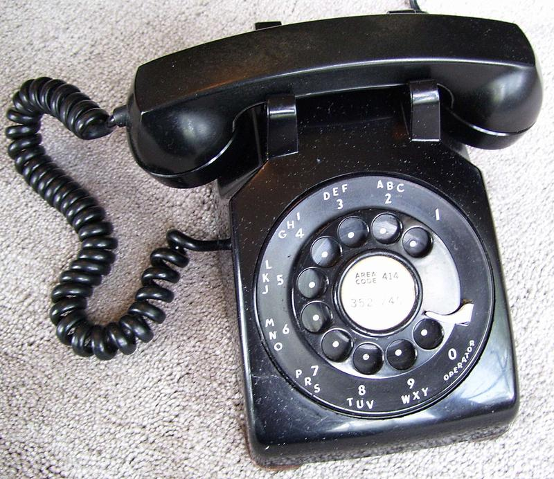 A Western Electric model 500 telephone made in the 1950s.