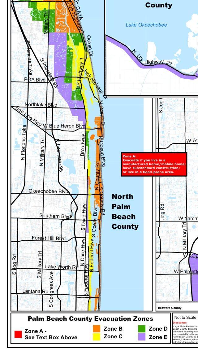 Palm Beach County Mandatory Evacuation Zones
