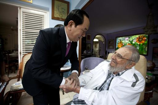 Last public image of Fidel Castro, with Vietnamese President Tran Dai Quang, left, in Havana, Cuba, Tuesday, Nov. 15, 2016.
