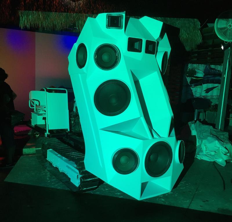Nik Nowak's sound tank at Gramps in Wynwood.