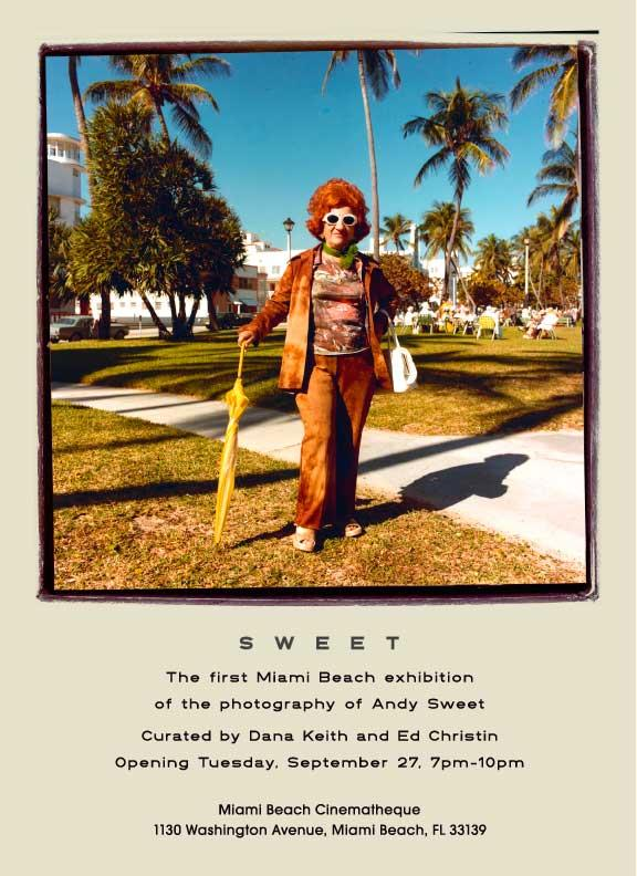 Invitation to the exhibit opening at Miami Beach Cinematheque