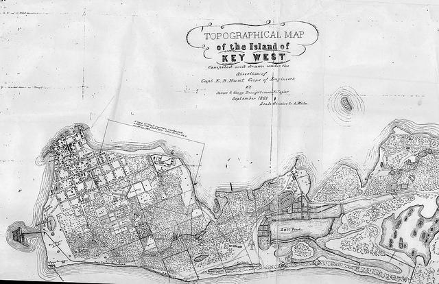 Key West in 1861, a few years after William Hackley was keeping his diary on the island.