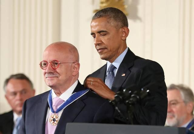 """President Barack Obama awarded Eduardo Padrón a Presidential Medal of Freedom during a ceremony at the White House. """"He is one of the world's preeminent education leaders."""" said Obama."""