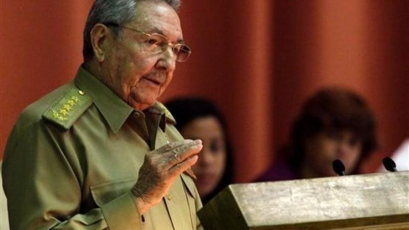 Cuban President Raul Castro addresses the National Assembly