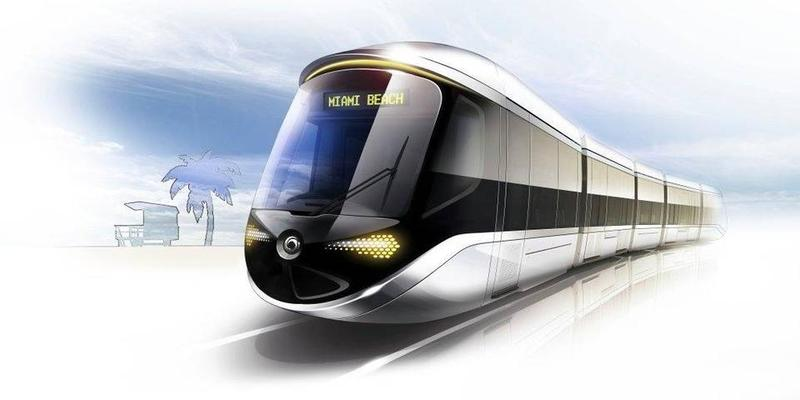 This rendering shows the proposed wireless streetcar designed by French rail company Alstom, part of a team whose proposal to build Miami Beach's streetcar will be put on hold.