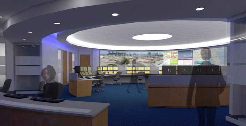A rendering of the interior of FPL's new $42 million center.