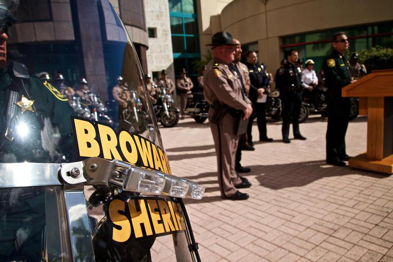 Broward Sheriff Scott Israel adresses the media on Jan. 12, 2017.