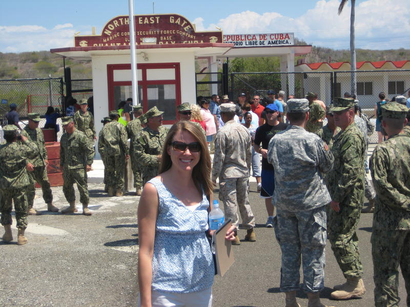 UM law professor Christina Frohock at Guantanamo.