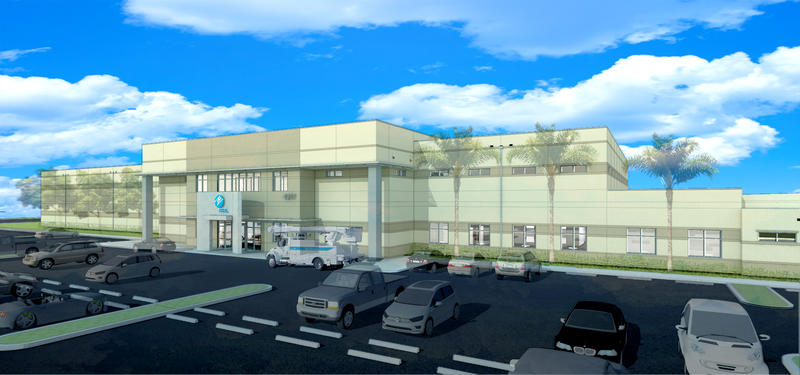 A rendering of the new, cat. 5 hurricane-proof FPL distribution control center in West Palm Beach.