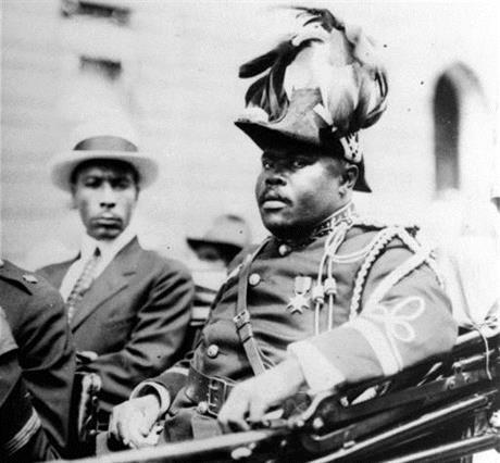 Marcus Garvey in Harlem, in New York, in 1922.