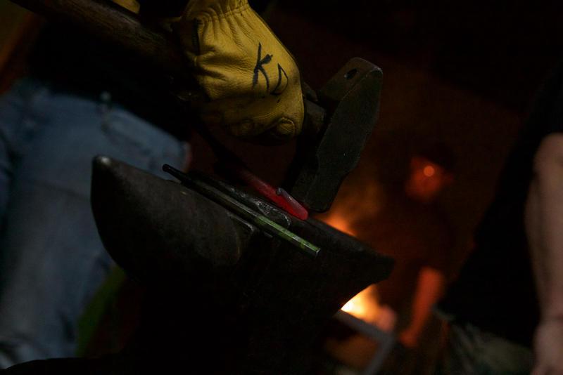 Blacksmiths hone their skills at Dark Angel Armory & Forge in Pompano Beach on Feb. 7, 2017.