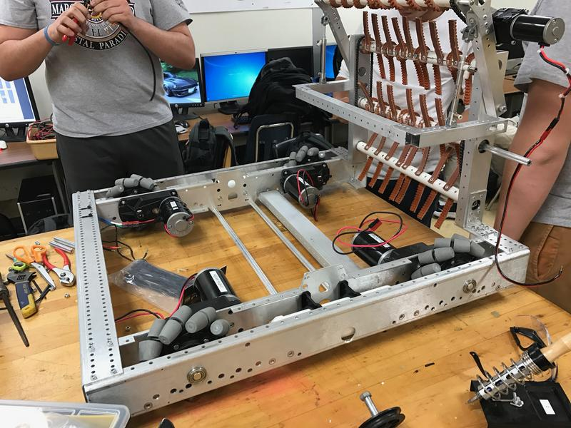 Students at RamTech59, the after-school program at Miami Coral Park Senior High, are building one of three robots for the FIRST Competition coming up in West Palm Beach.