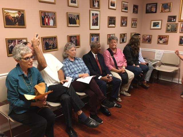 Residents of Congressional District 27 delivered a petition with 150 signatures asking Congrewoman Ileana Ros-Lehtinen to hold a Town Hall meeting about the future of Obamacare.
