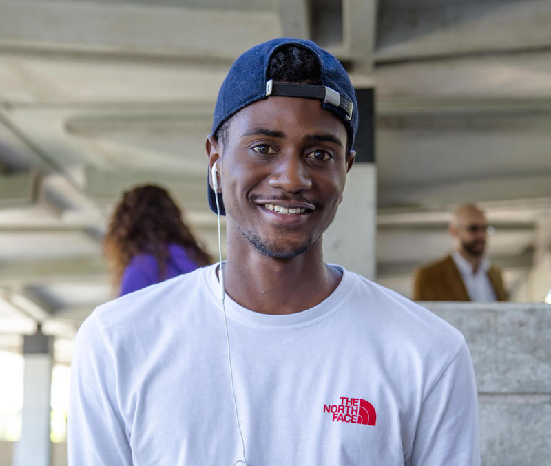 """Deon Richards is a student at Miami Dade College's Kendall Campus. When he was getting ready to leave foster care, on the eve of his 18th birthday, he says he was worried about things as simple as """"how am I going to go grocery shopping?"""""""