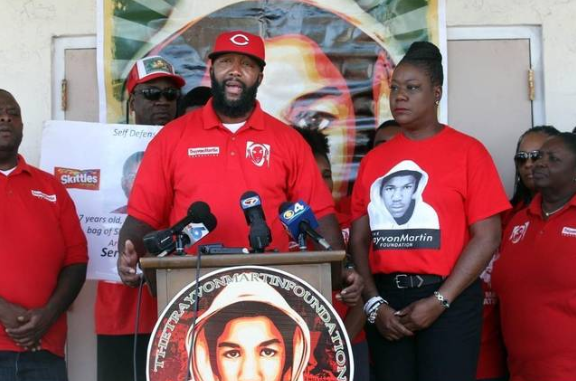 Sybrina Fulton and Tracy Martin, mother and father of Trayvon Martin.