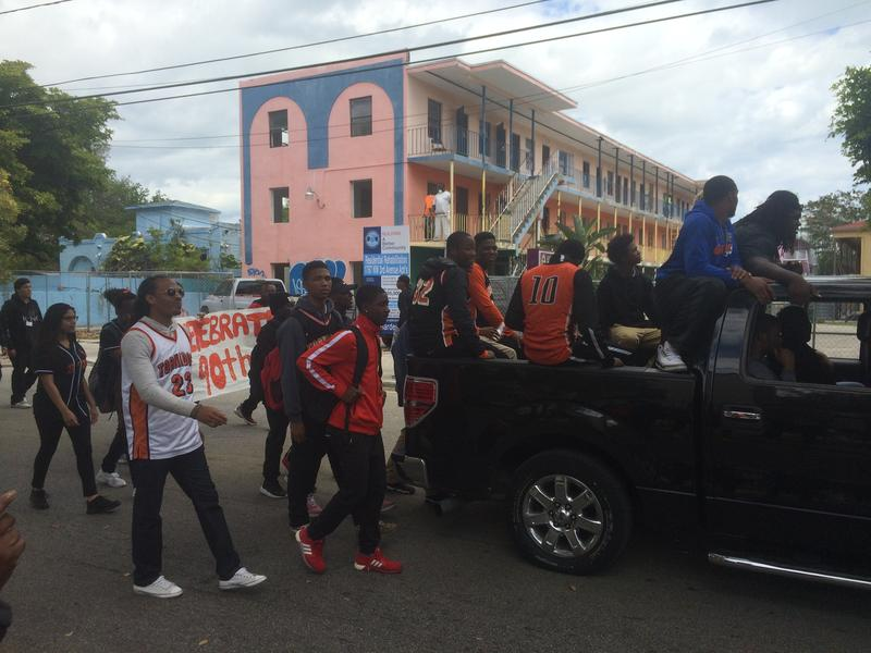 School administrators said they hoped Booker T students left the parade with a better sense of the school's history.