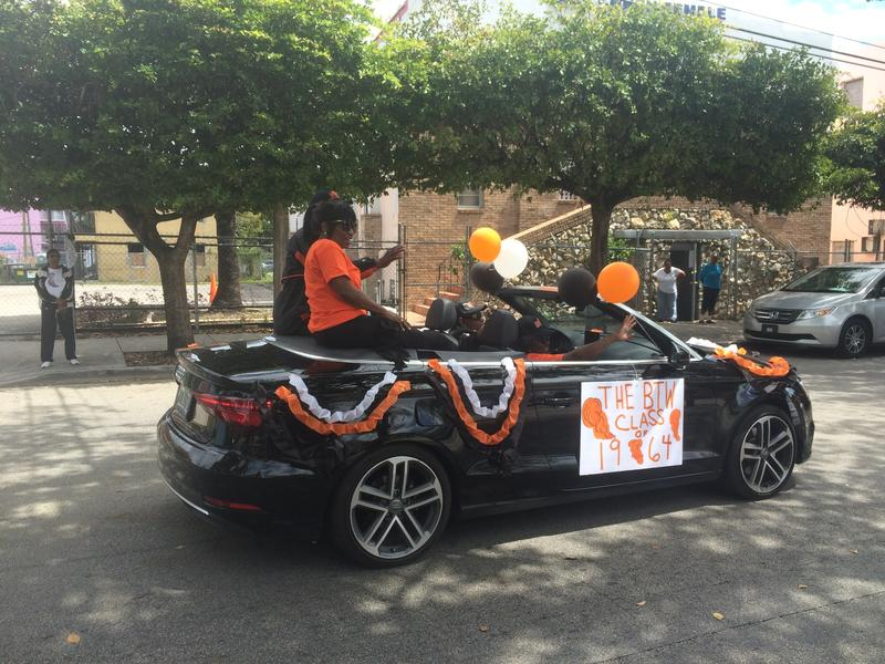 Booker T Washington Senior High School celebrates its 90th anniversary with a parade through Overtown.