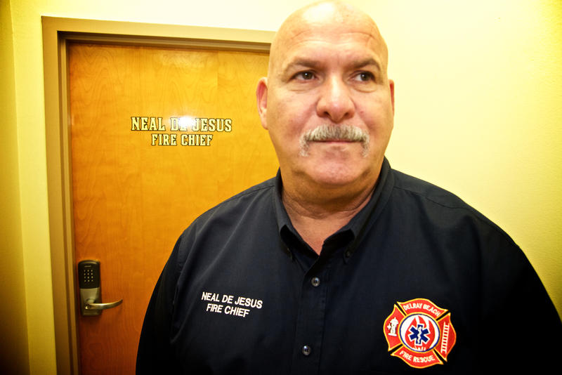 "Delray Beach Fire Rescue Chief Neal de Jesus says naloxone is truly a miracle drug. ""We can't do without it. It's either buy the drug and administer it to save lives, or don't buy it and watch people die."" Dec. 16, 2016."