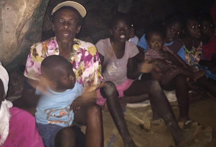 Some of the 240 Haitians discovered living in a cave in southwest Haiti last week.