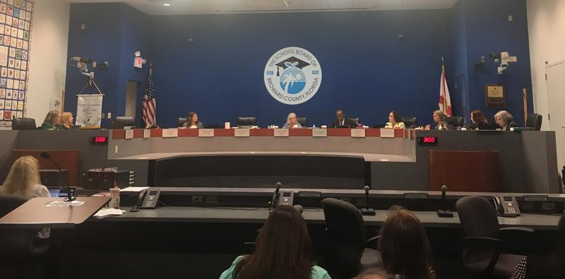 The School Board of Broward County passes a unanimous vote for a resolution that creates a safe place for immigrant students and their families, at the Kathleen C. Wright Administration Center Boardroom in Fort Lauderdale.
