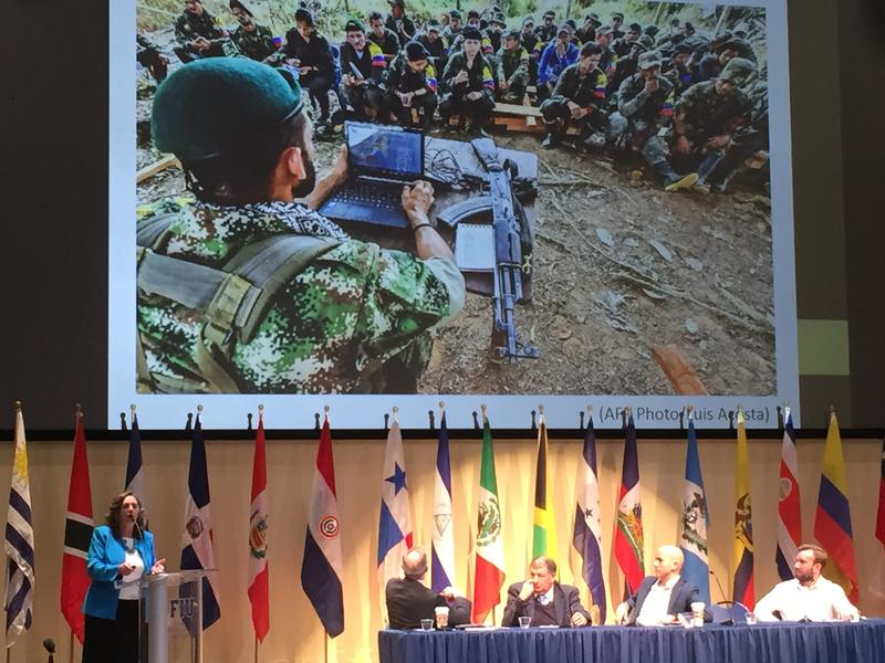 Latin America experts discuss the Colombian peace accord at FIU on Thursday.