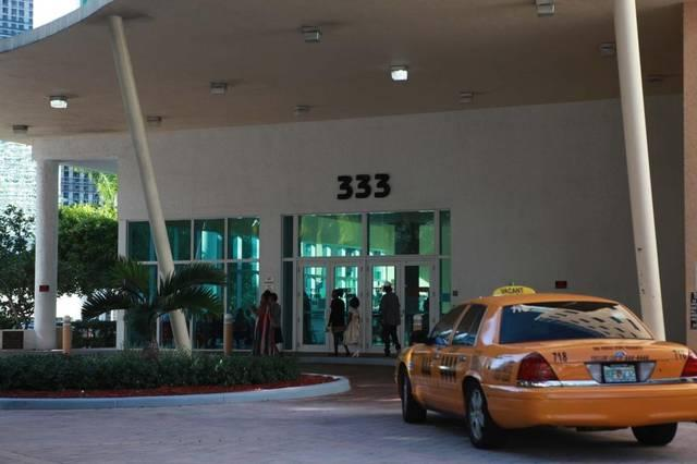 The entrance to the immigration court in downtown Miami.